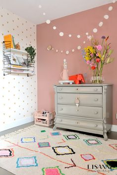 Pink Toddler Rooms, Little Girl Rooms, Nursery Wall Decor, Bedroom Decor, Baby Room Curtains, Baby Room Design, Girls Bedroom, Decoration, Craft
