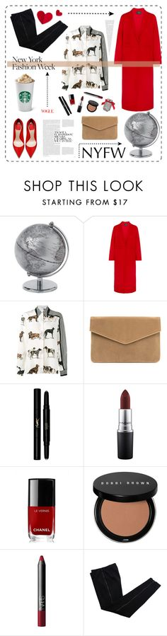 """winter in NYC"" by oriperez001 ❤ liked on Polyvore featuring Maje, STELLA McCARTNEY, Yves Saint Laurent, MAC Cosmetics, Chanel, Bobbi Brown Cosmetics, NARS Cosmetics, COSTUME NATIONAL and Victoria's Secret"
