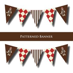 Sock Monkey Party Banner