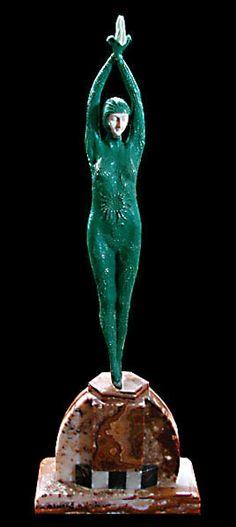 """Fantastic Art Deco Sculpture """"Star Fish"""" by Demetre Chiparus"""