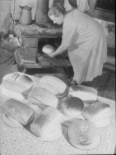 Woman baking bread - Indiana, USA