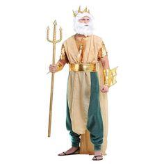 Man's Master Of The Seas Poseidon Greek God | King Neptune Halloween Costume