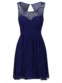 Knee-length  Prom Dress With Beading at Millybridal.com