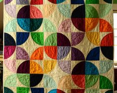 Modern Drunkards Path Quilt Pattern by sotosewn on Etsy- I do not make quilts but I would love this beauty! Drunkards Path Quilt, Quilting Projects, Quilting Designs, Sewing Projects, Quilt Design, Patchwork Quilting, Circle Quilts, Quilt Blocks, Circle Quilt Patterns