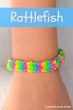 How to Make a Rainbow Loom Rattlefish     Made one on the Rainbow Loom, not the monster tail.