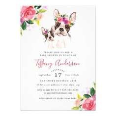Sweet deer mom and baby shower book card baby gifts child new sweet mom and baby boston floral baby shower card floral style flower flowers stylish diy negle Image collections