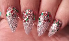 Pointy Christmas Nails
