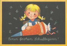Schulanfang DDR 1964<br> Jungpionier mit Zuckertüte- mein ansichtskarten shop.de - alte Ansichtskarten - Bücher - Fotografie