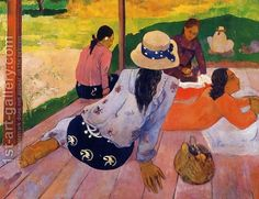 Paul Gauguin:The Siesta