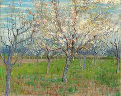 The pink orchard, Vincent van Gogh (1888)