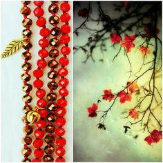 Rosso oro collane Red/gold necklace