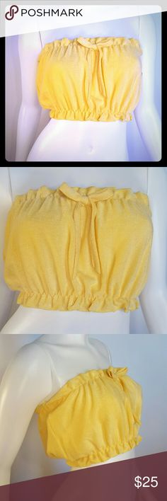 """NWT Vintage 70s Terry Cloth Tube Top Length: 9"""" One size - XS/S Excellent condition  #70s #80s #vintage Vintage Tops"""