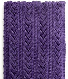 Free Knitting Pattern for 8 Row Repeat Cables and Lace Baby Blanket - This cables and a chevron lace pattern is knit with an 8 row repeat, with all wrong side rows the same. Approx 35 x 46″ [89 x 117 cm]. Aran weight yarn. Designed by Yarnspirations
