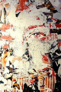 Vhils - street art - Paris 3 - centre pompidou