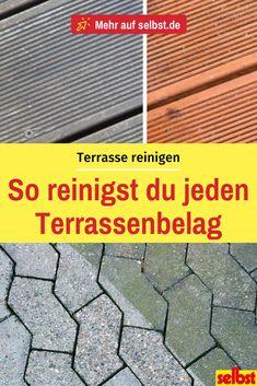 So reinigst du deine Terrasse richtig! After winter is the mostly dirty.