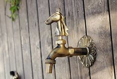 "Buy Aquafaucet Horse Decorative Antique Brass Garden Outdoor Faucet - With a Set of Brass Quick Connecter for 1/2"" Inches Hose - Topvintagestyle.com ✓ FREE DELIVERY possible on eligible purchases"