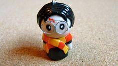 Harry Potter chibi polymer clay charm by WoodlandFeltCrafts