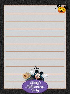 "Mickey's Halloween Party - Disneyland - Project Life Journal Card - Scrapbooking ~~~~~~~~~ Size: 3x4"" @ 300 dpi. This card is **Personal use only - NOT for sale/resale** Logo/clipart belong to Disney. *** Click through to photobucket for more versions of this card ***"