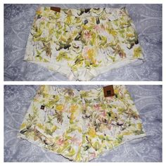 NWOT Floral Insight shorts, size 4 NWOT Never worn floral denim shorts by Insight. Size 4. Nasty Gal Jeans