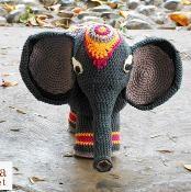 Indian Elephant pattern amigurumi crochey for kiele
