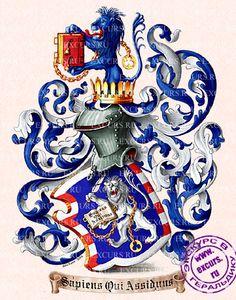 Герб Ч.Бьюкенена-Бордмана - The arms of C.Buchanan-Boardman