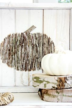 wood stick pumpkin fall project that's not only easy, but looks great too!