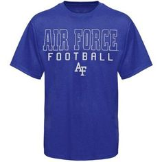 Air Force Falcons Frame Football T-Shirt - Royal Blue