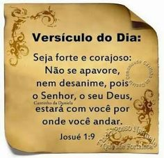 Versículo do dia!