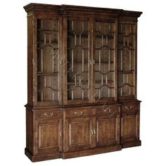 Chippendale Style Breakfront Bookcase with Fretwork Doors $4,940.00