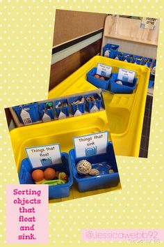 Sorting objects that float and sink. EYFS