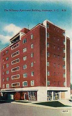 Anderson South Carolina SC 1940s Wilmary Apartment Vintage Linen Postcard