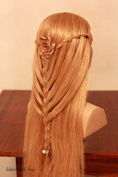 14 Quick and Easy Hairstyles for School / Small Girls - Best Hairstyle Ideas Messy Bun With Braid, Braided Buns, Messy Braids, Messy Buns, Braided Pigtails, Hairstyles For School, Trendy Hairstyles, Prom Hairstyles, Rose Braid