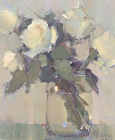 Nancy Franke | Rose Poetry. Oil ~ 12 x 10