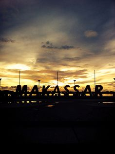 Sunset in Makassar ~ indonesia