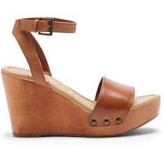 Sole Society Sahara Platform Wedge Sandal ($80) ❤ liked on Polyvore featuring shoes, sandals, tan, platform wedge shoes, wedge heel shoes, wedge sandals, padded sandals and strappy shoes
