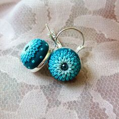#blue #blonde #handmade #jewelry #earrings #etsy #stories #handmadejewelry…