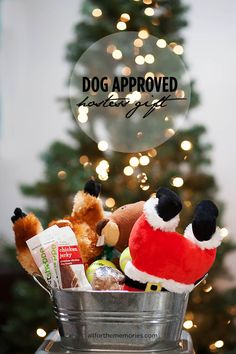 Perfect hostess gift for dog owners! From All for the Memories blog #HappyAllTheWay #shop #cbias