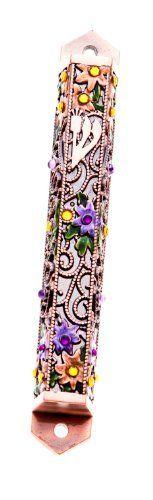 copper Mezuzah Case with stones 12cm by Top-Judaica. $12.50. Top quality mezuzah scroll case