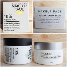 [Nakeup Face] 10% AHA Scaling Cream | Korean Beauty Dream Glycolic Acid Cream, Argan, Korean Beauty, Serum, Skin Care, Face, Humectant, Sensitive Skin, Exfoliating Scrub