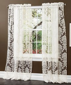 Another great find on #zulily! Beige Brea Curtain Panel - Set of Two #zulilyfinds