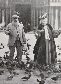 Claude Monet and Alice Hoschedé Monet in Piazza San Marco, Venice, October 6, 1908.