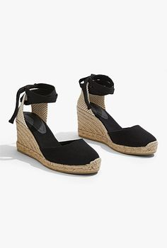 Porto Wedge Espadrille Linen Tshirts, Promotional Events, Toe Shape, Online Purchase, Summer Looks, Ankle Strap, Espadrilles, Wedges, Shoes