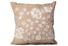 Beaded 20x20 Pillow, Beige on OneKingsLane.com