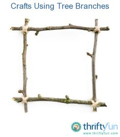 This guide is about crafts using tree branches. Whether fresh or dry branches and twigs are a thrifty supply to create a variety of things. Tree Branch Crafts, Twig Crafts, Branch Art, Branch Decor, Driftwood Crafts, Nature Crafts, Arts And Crafts, Kids Crafts, Rama Seca