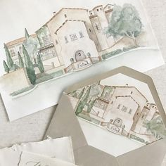 So so excited for this incredible wedding this weekend at #bellacollina for this amazing couple who we created so many many details for! Can't wait to see how all the details come together. For now, a sneak peek of the invites and the original watercolour artwork that we made into the envelope liners. #giclee printed by the wonderful @nightingalehandmade. #watercolor #custominvitations #painting #bellacollinaweddings #destinationweddings #details #handmadepaper #weddinginvitations #watercolo... Wedding Invitation Suite, Wedding Stationary, Stationery Design, Save The Date Cards, Custom Invitations, Invites, Envelope Liners, Destination Wedding, The Incredibles