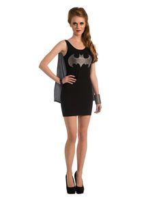 Batgirl Tanktop-Minikleid mit Superhelden Umhang | horror-shop.com #Batman #Superhero #Batgirl #Superheroine