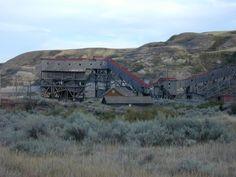 The historic Atlas Coal Mine in Alberta, Canada.