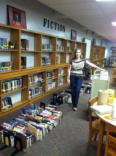 HMMM...  organizing fiction by genre - we made the decision to do this last year in our school library...the kids seem to love it!