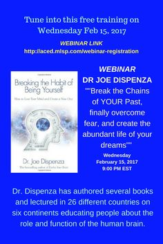 Tune into this deep mindset clinic of a webinar to hear the #1 Authority in the World on Neuroscience, Meditation, and Transformation. WEBINAR LINK: http://aced.mlsp.com/webinar-registration