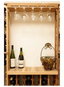 The Designer Series Wine Glass Rack adds the finishing touch to a elegant tasting area by providing storage for 15 glasses. The DIY wine glass rack is affordable. Wine Glass Rack, Wine Rack, Wine Cellar Innovations, Wine Storage, Bar, Home Kitchens, Liquor Cabinet, Table, Furniture